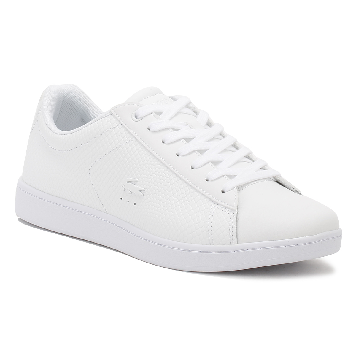 9db41a5e7 Details about Lacoste Womens Trainers White Carnaby EVO 317 3 Sport Casual  Shoes