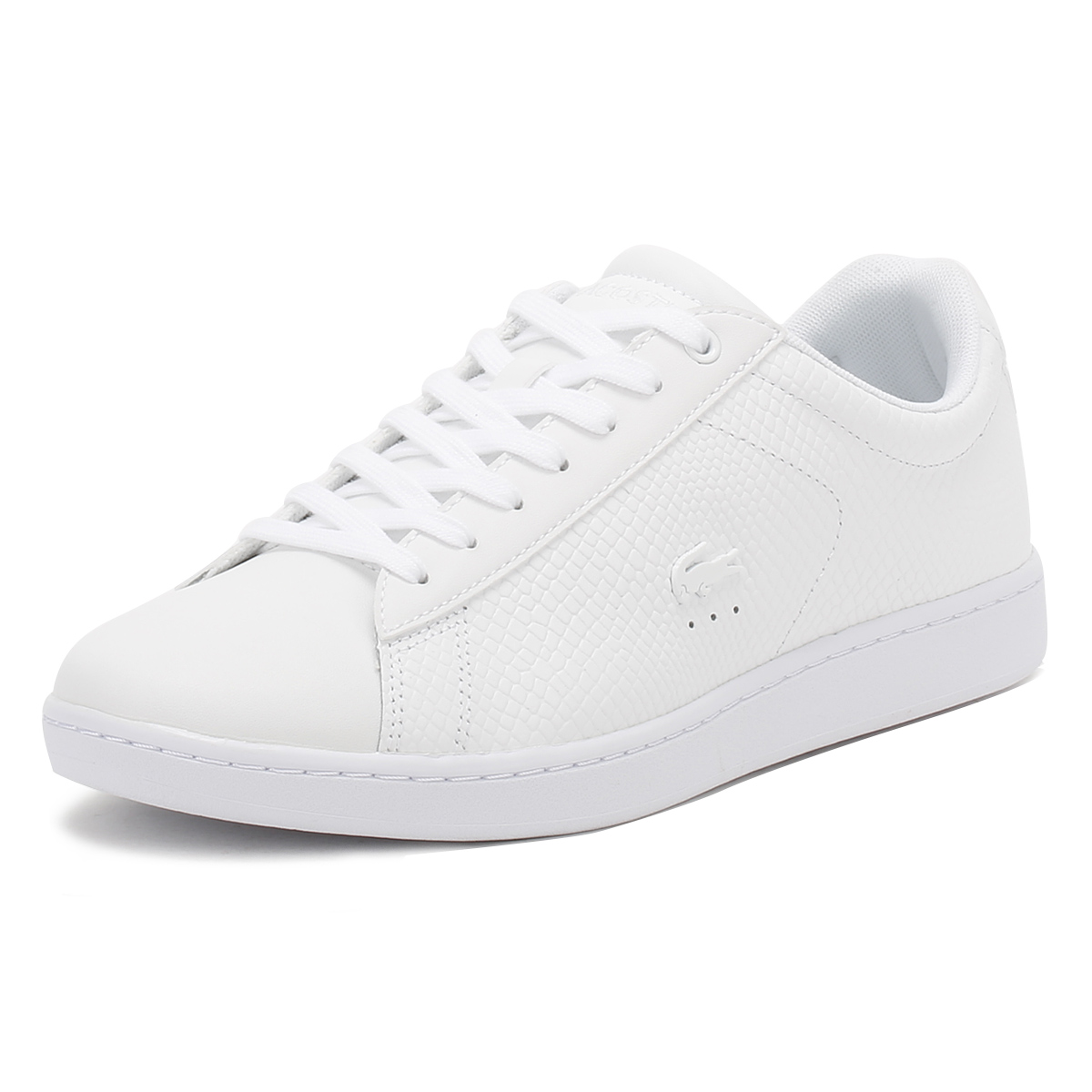 0ac7a156031ab4 Details about Lacoste Womens Trainers White Carnaby EVO 317 3 Sport Casual  Shoes