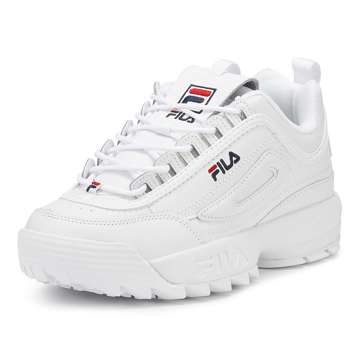 fila womens trainers white disruptor ii premium sport