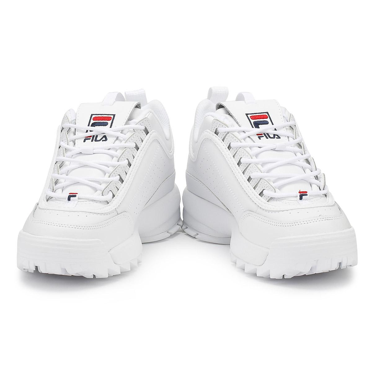 Fila Damenschuhe Trainers Weiß Disruptor II Premium Schuhes Sport Casual Lace Up Schuhes Premium 59933c