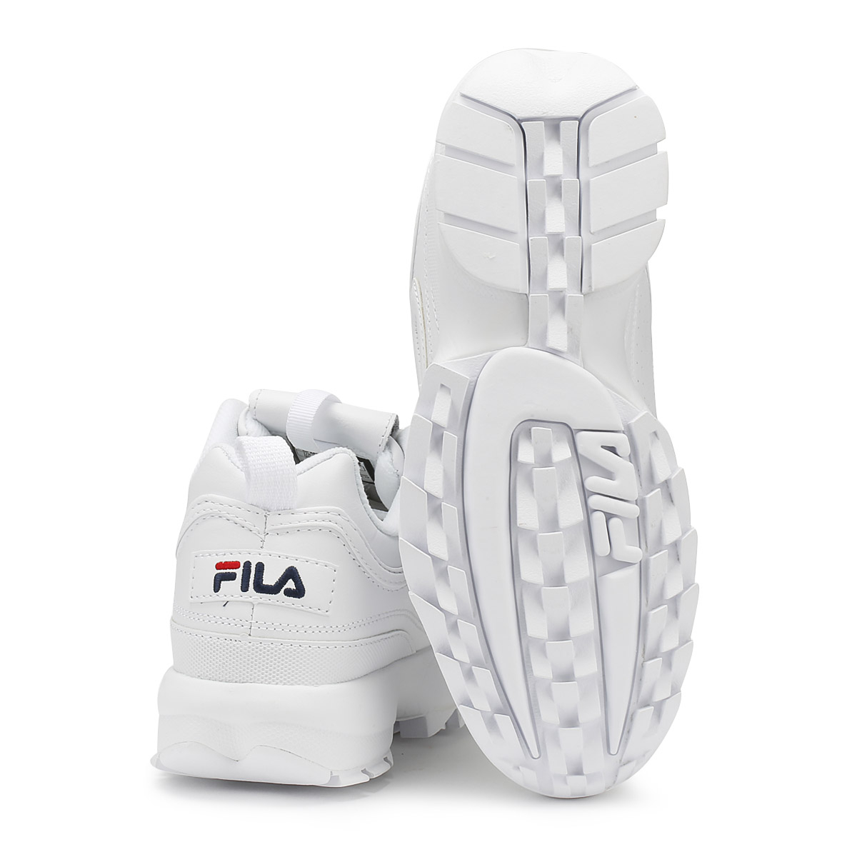 Fila Womens Trainers White Disruptor II Premium Sport Casual Lace Up Shoes 5127c143499
