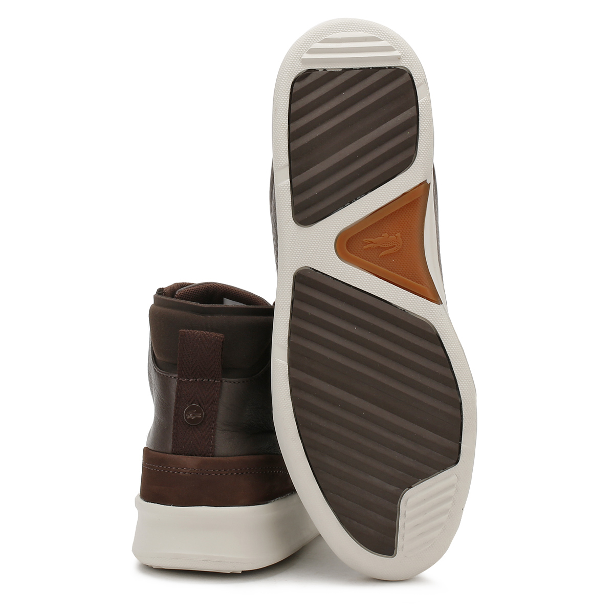 55d1911178bf Lacoste Mens Dark Brown Explorateur Classic 317 1 Trainers Leather Hi Top  Shoes