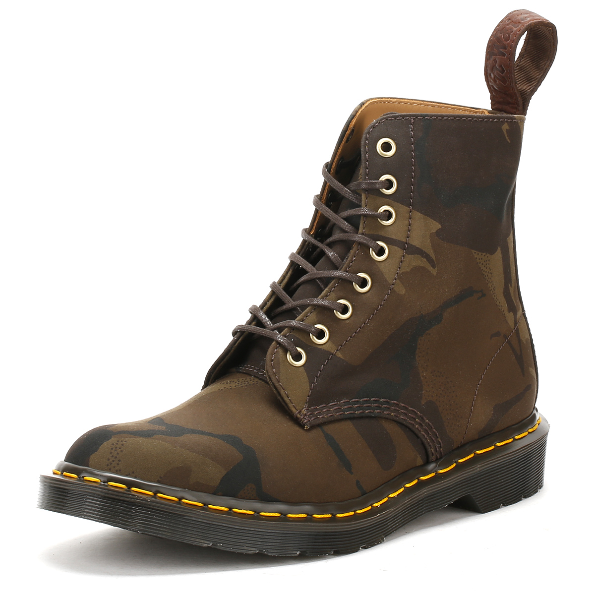 dr martens mens pascal camo boots leather docs lace up. Black Bedroom Furniture Sets. Home Design Ideas