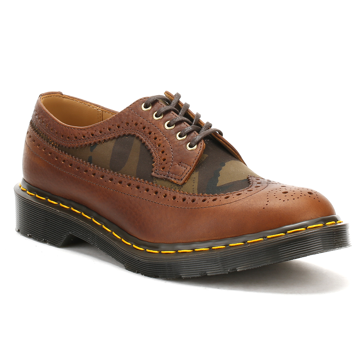 Dr. Martens  Herren Brogue Leder Schuhes, Dark Tan Braun Leder Brogue Smart Casual Docs d0c7d3