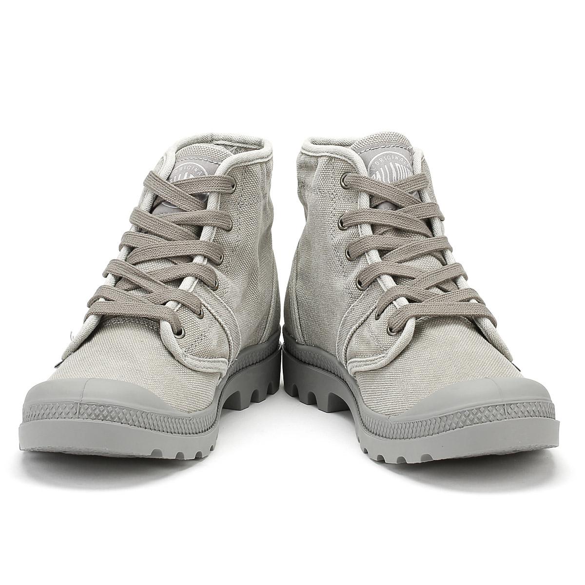 Scarpe casual da uomo  Stivali da uomo Palladium Grigio Titanio Hi Rise Pallabrouse Lacci Scarpe di tela