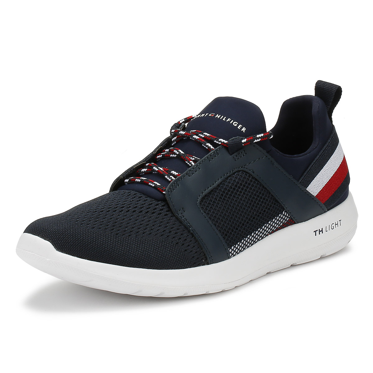 4cc2b1ad61a8 Details about Tommy Hilfiger Mens Trainers Midnight Navy Technical Material Running  Shoes