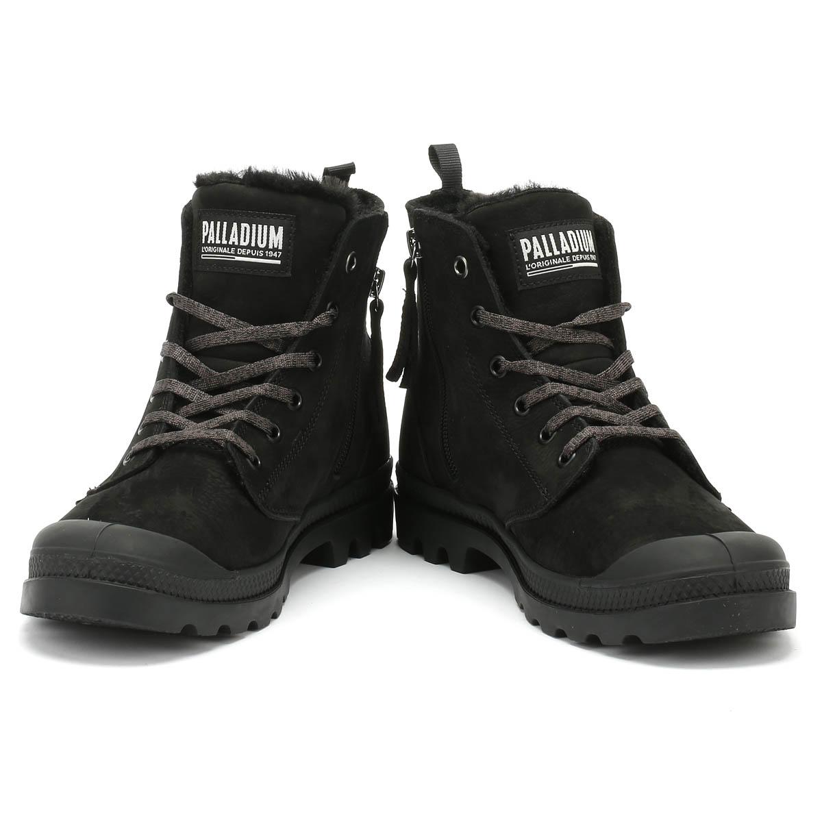 Details about Palladium Pampa Hi Zip WL Womens Boots Black Ladies Warm WInter Shoes
