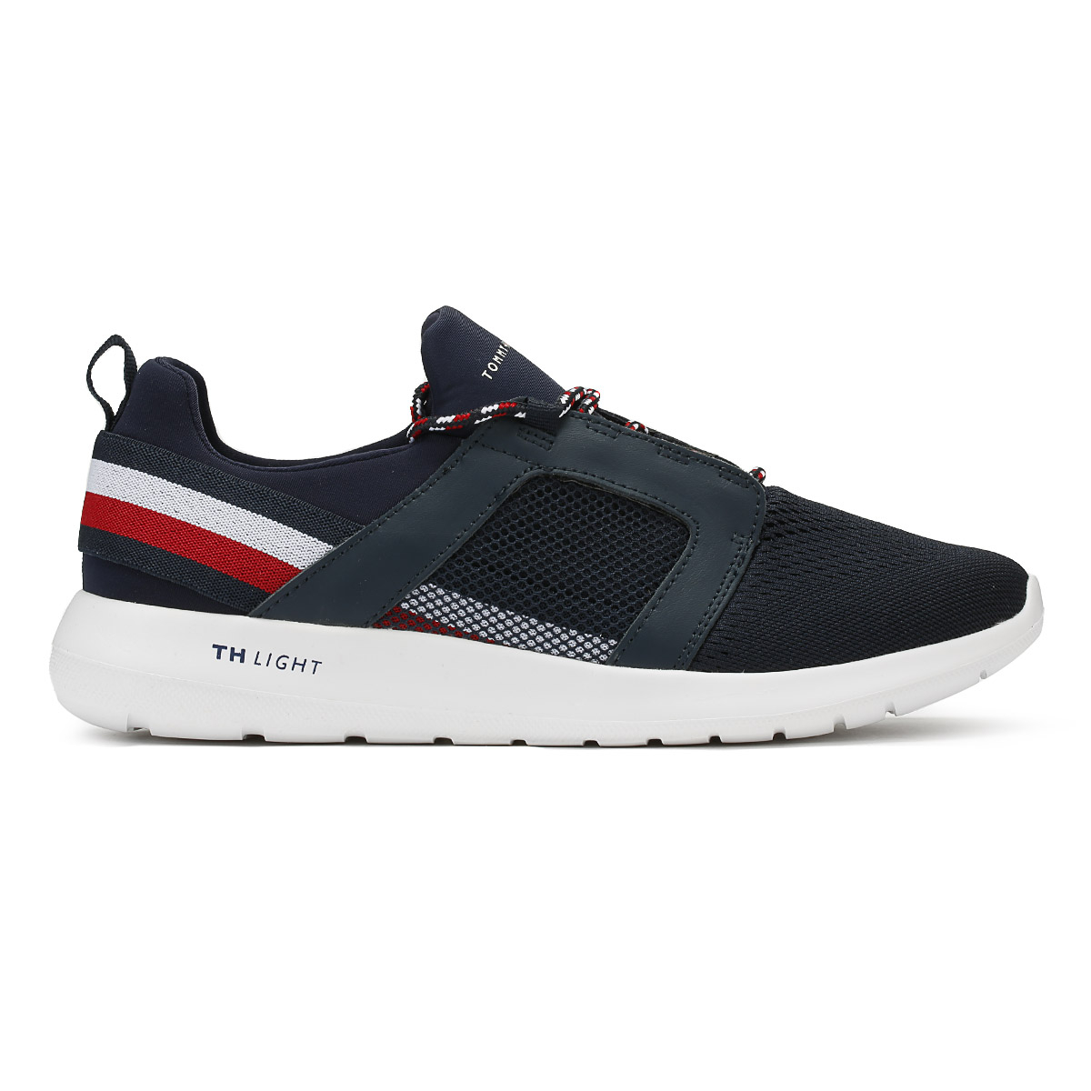 Tommy Hilfiger Mens Trainers Midnight Navy Technical Material Running Shoes