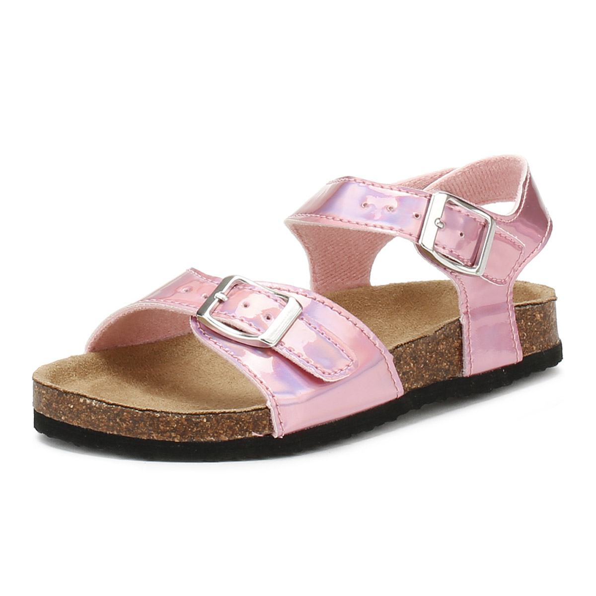 96e0aa639f5 Details about Joules Junior Pearl Pink Tipytoe Sandals Kids Girls Summer  Buckle Shoes