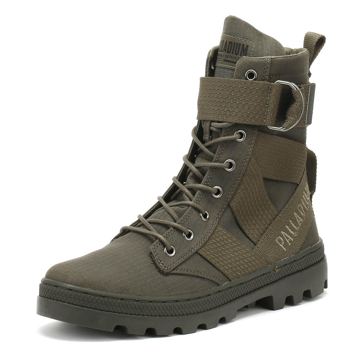 2ac380dfa88 PALLADIUM PALLABOSSE TACT St Womens Boots Olive Green Ladies Warm WInter  Shoes