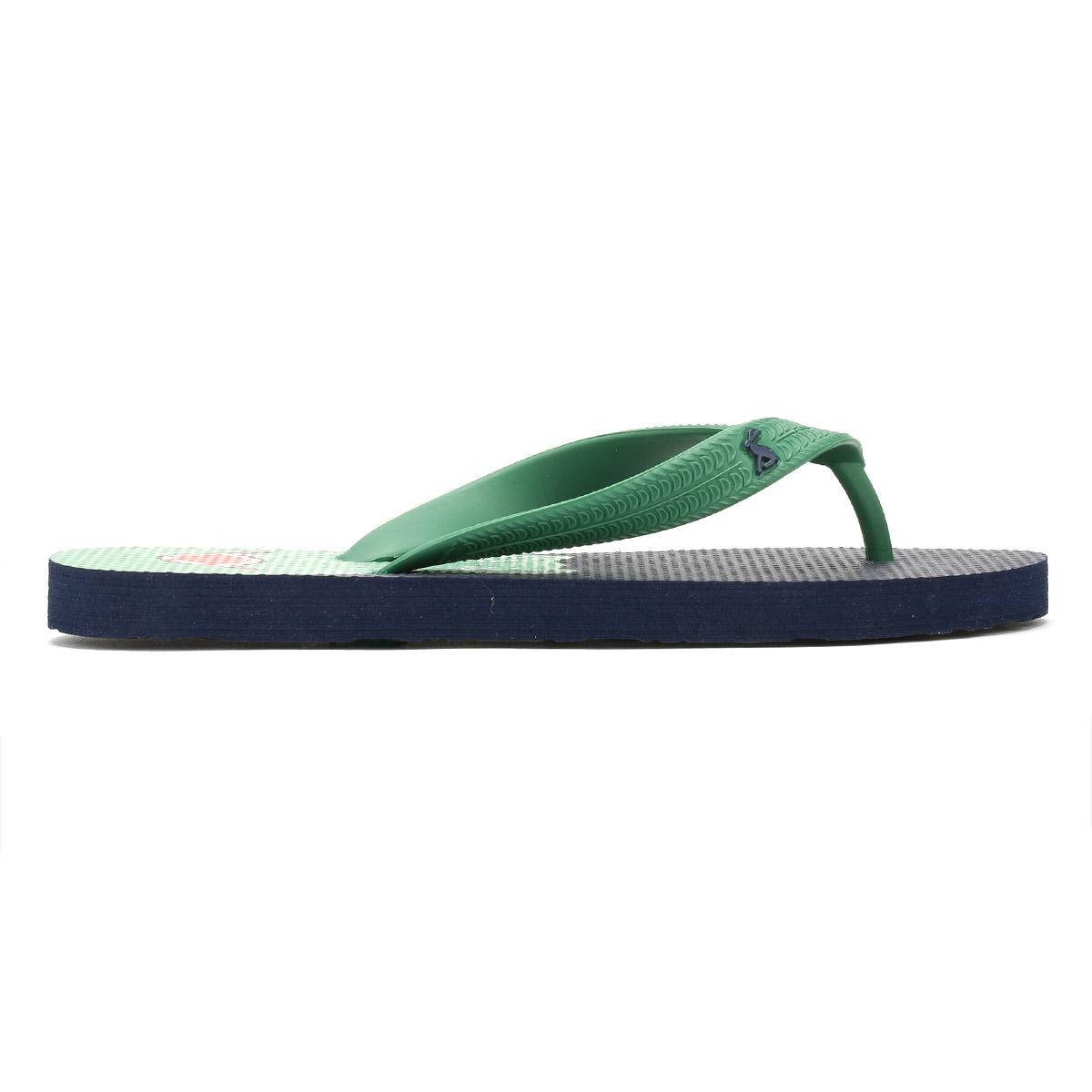 7dd8382dbe4ae Joules Junior Navy Blue Dino Printed Flip Flops Kids Summer Shoes Sandals