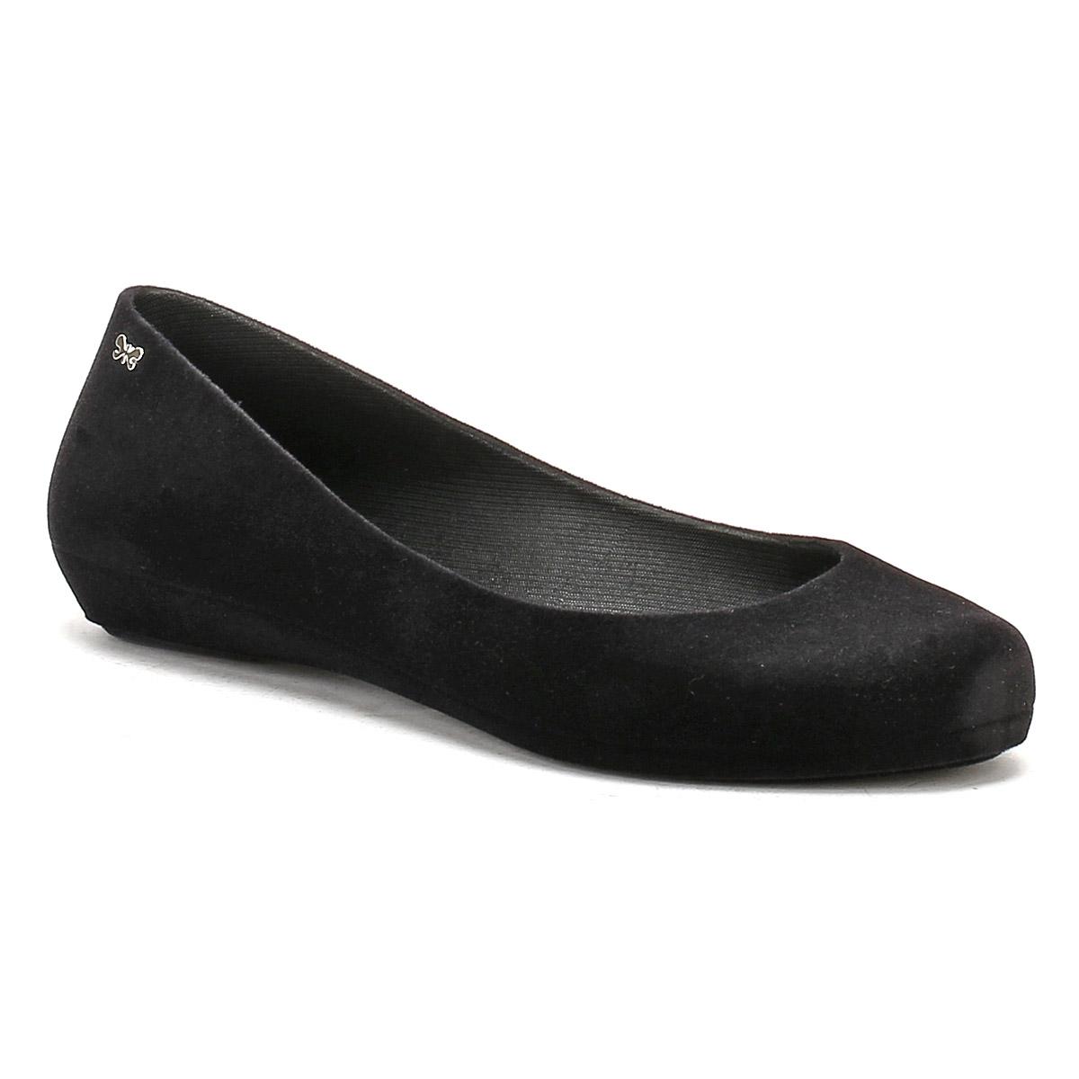 44f7aca9a0f Zaxy Pop Flock 2 Black Ladies Flat Ballerina Pump Vegan Shoe UK 5 ...