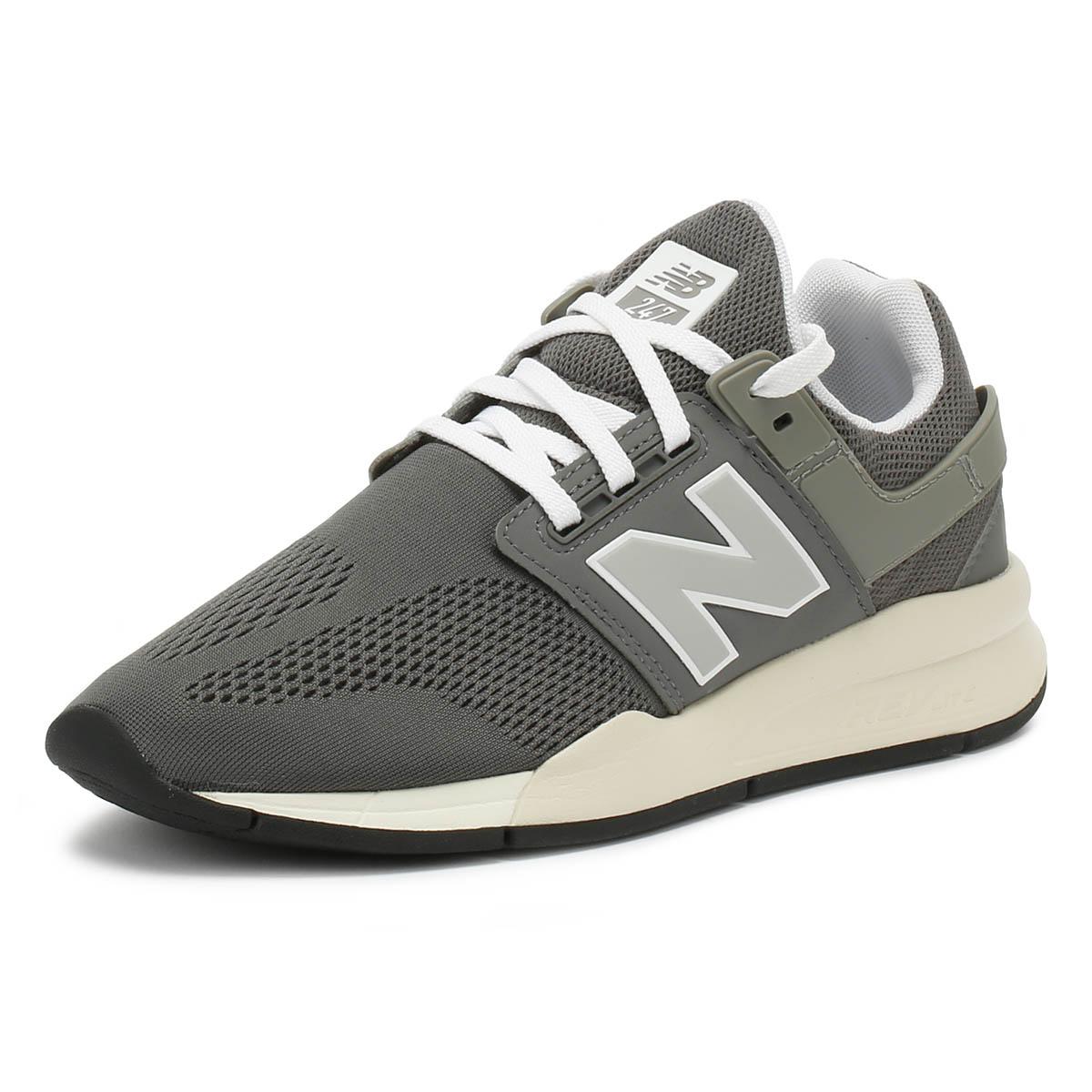 c5b040fc Detalles de Zapatillas para hombres Gris 247 New Balance Y Blanco Encaje  Sport Casual Zapatos para correr- ver título original