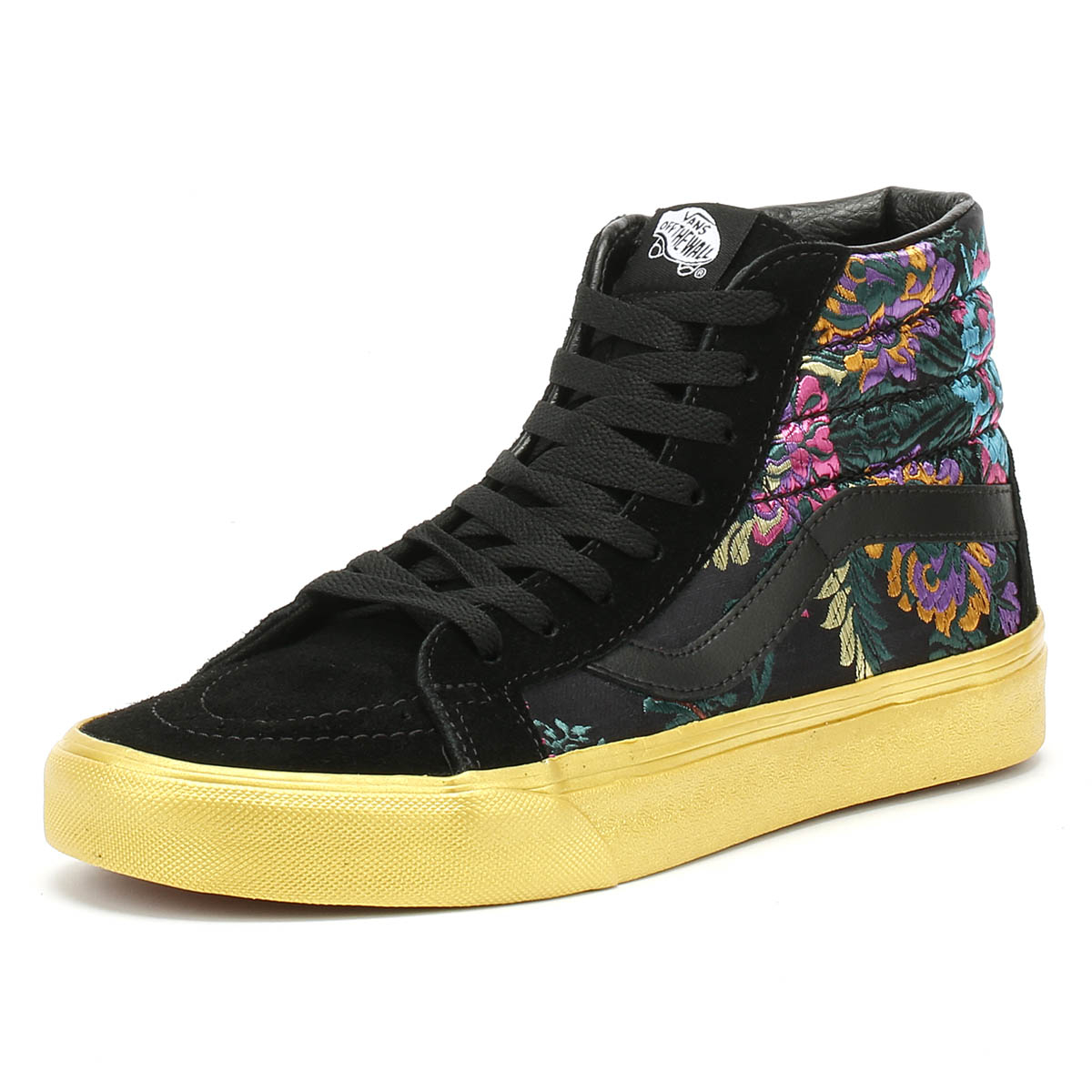 Details about Vans SK8-Hi Reissue Festival Satin Womens Trainers Black  Casual Skate Shoes 25980ef89