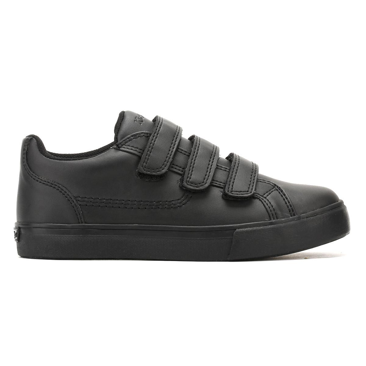 Kickers Junior Negro Cuero tovni viaje Zapatillas Niños Deporte Informal Zapatos