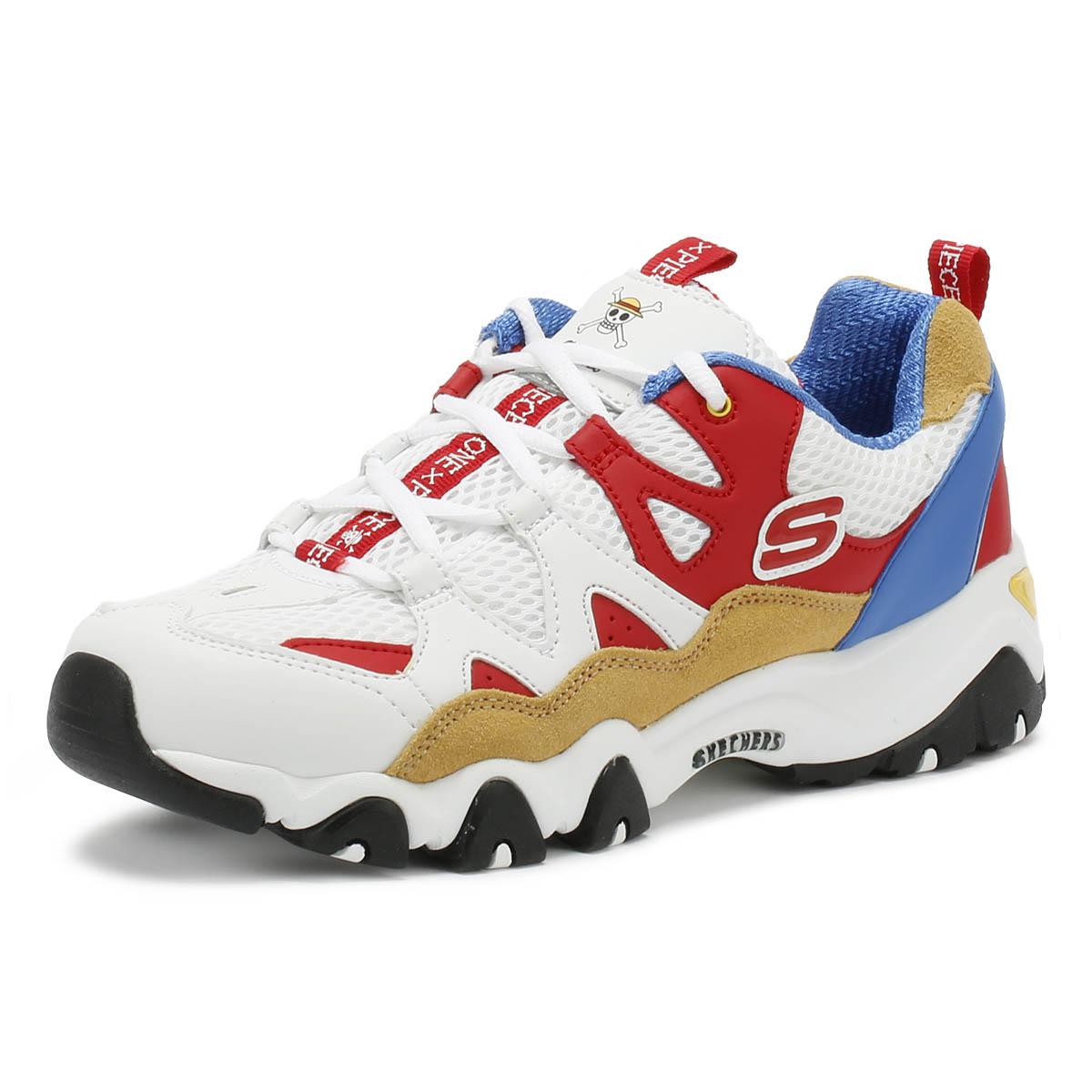 2019 Skechers x One Piece D LItes 3 Shoes Sneakers WhiteBlackOrange(Ace) | eBay