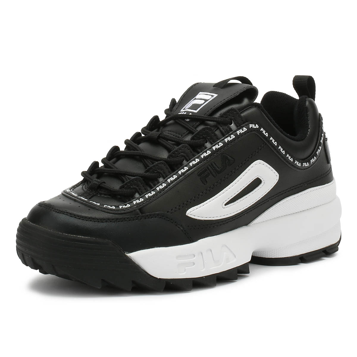 Sport Fila Repeat Ii Trainers Womens Casual Premium Black Disruptor 7r7xn1