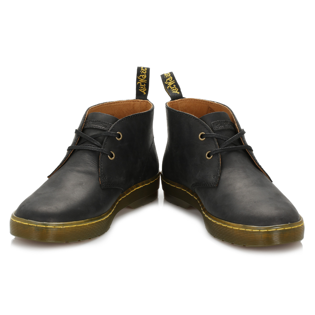 d28b19c260e Details about Dr. Martens Mens Black Cabrillo Desert Boots Leather Lace Up  Ankle Shoes