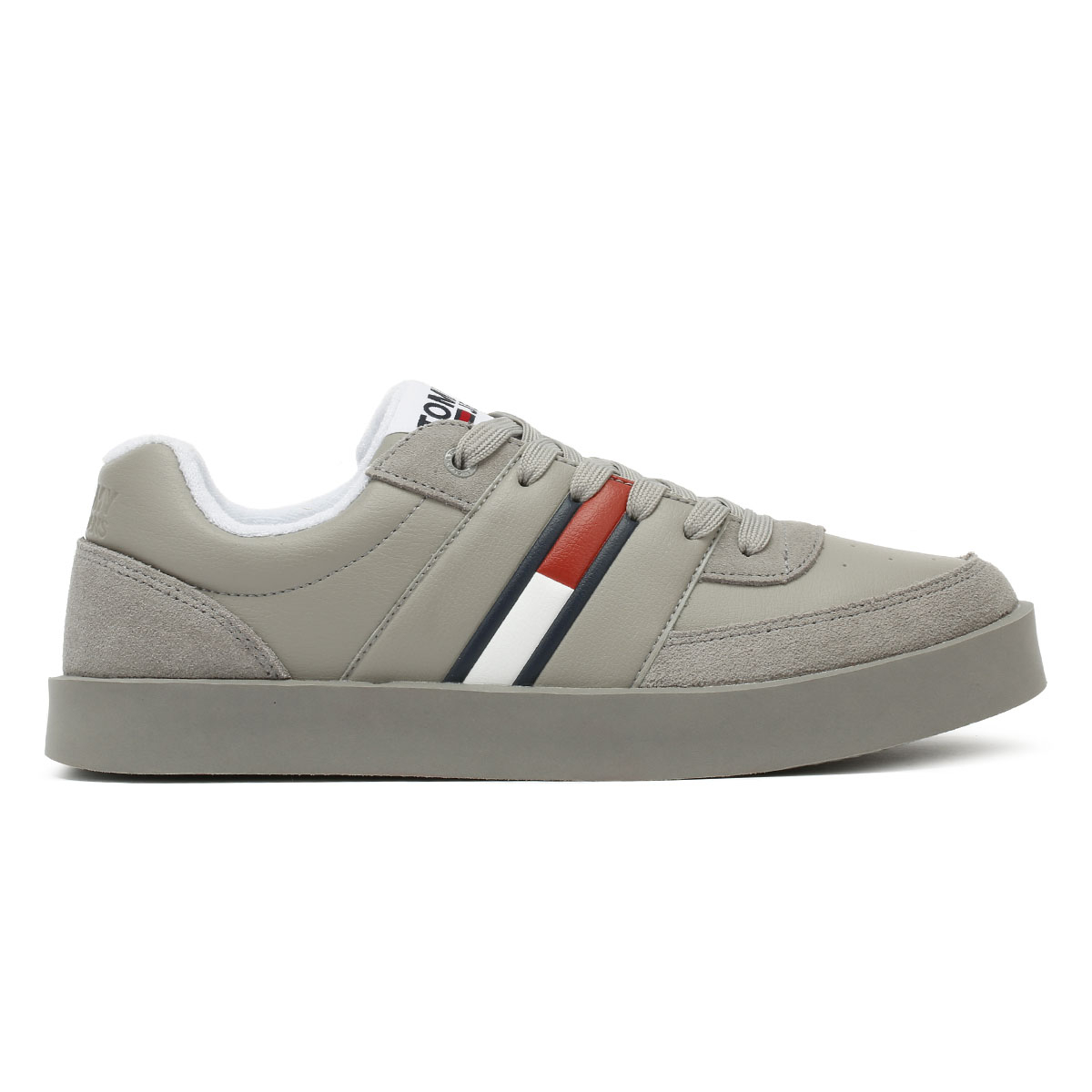 Tommy Hilfiger Jeans Light Mens Trainers Drizzle Grey Lace Up Sport Casual Shoes Herrenschuhe Kleidung & Accessoires