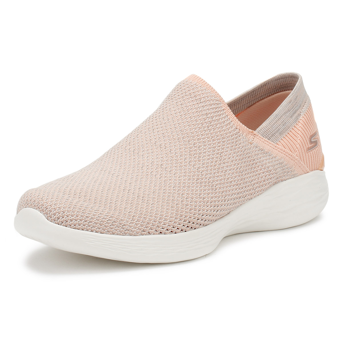 a30a47ca8e9 Details about Skechers Womens Peach You Rise Trainers Slip On Ladies Casual  Shoes