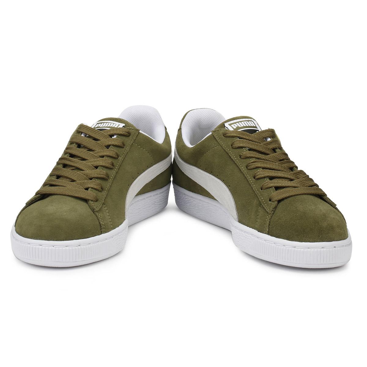 Puma Zapatillas para hombre Clásico Zapatos Verde Oliva Gamuza Zapatos Clásico Deportivos Informales con Cordones 12cd7d