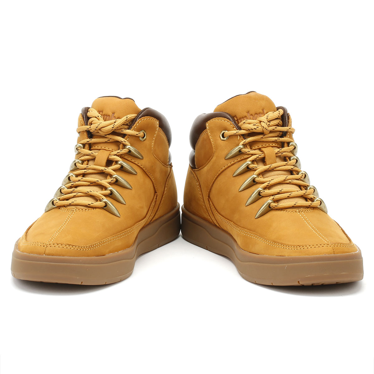 12603724e8305 Timberland Davis Square Mens Trainers Wheat Mid Hiker Lace Up Casual Shoes