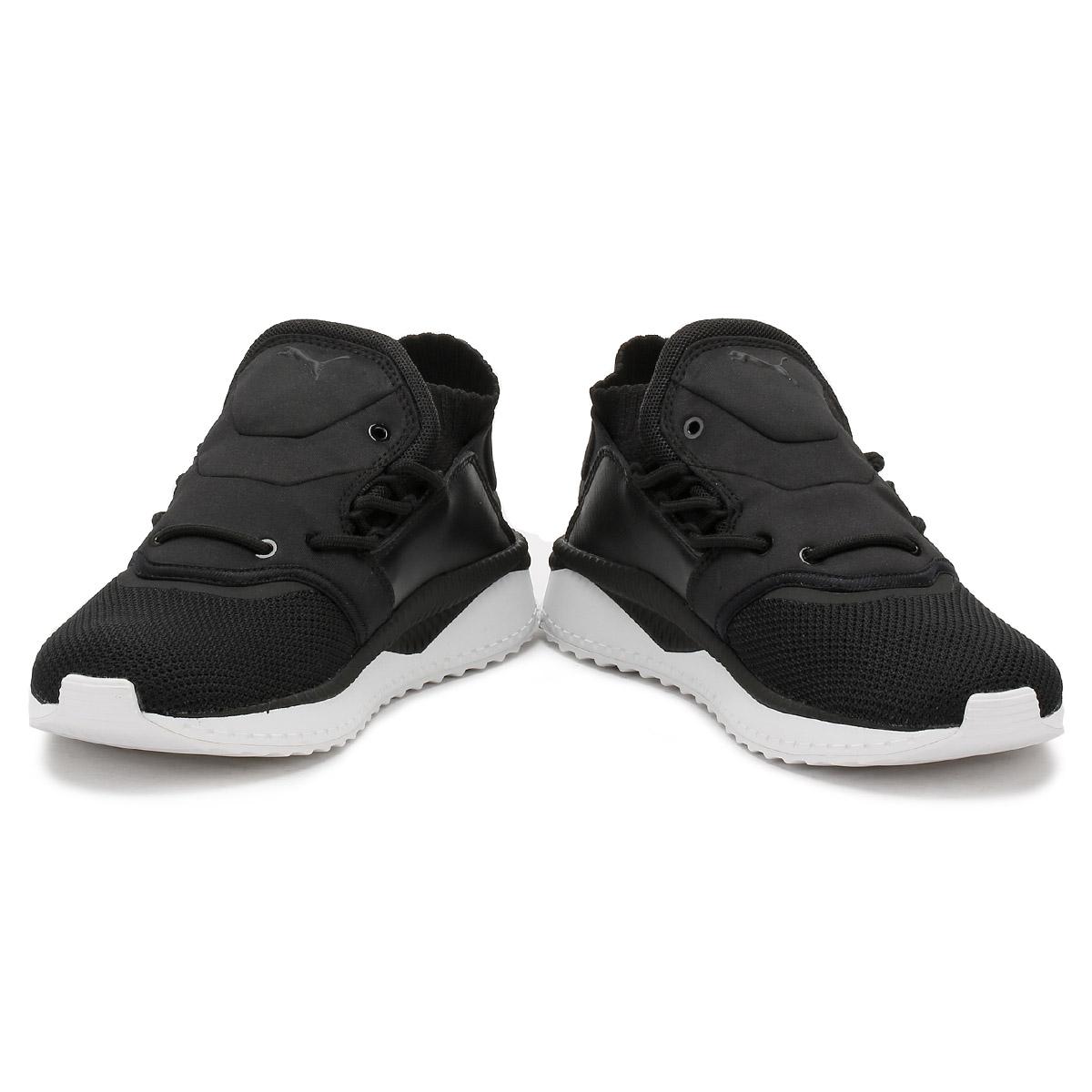 PUMA Mens Textile Black Tsugi Shinsei Trainers Textile Mens Knitted Mesh, Sport Running Shoes 6023bb