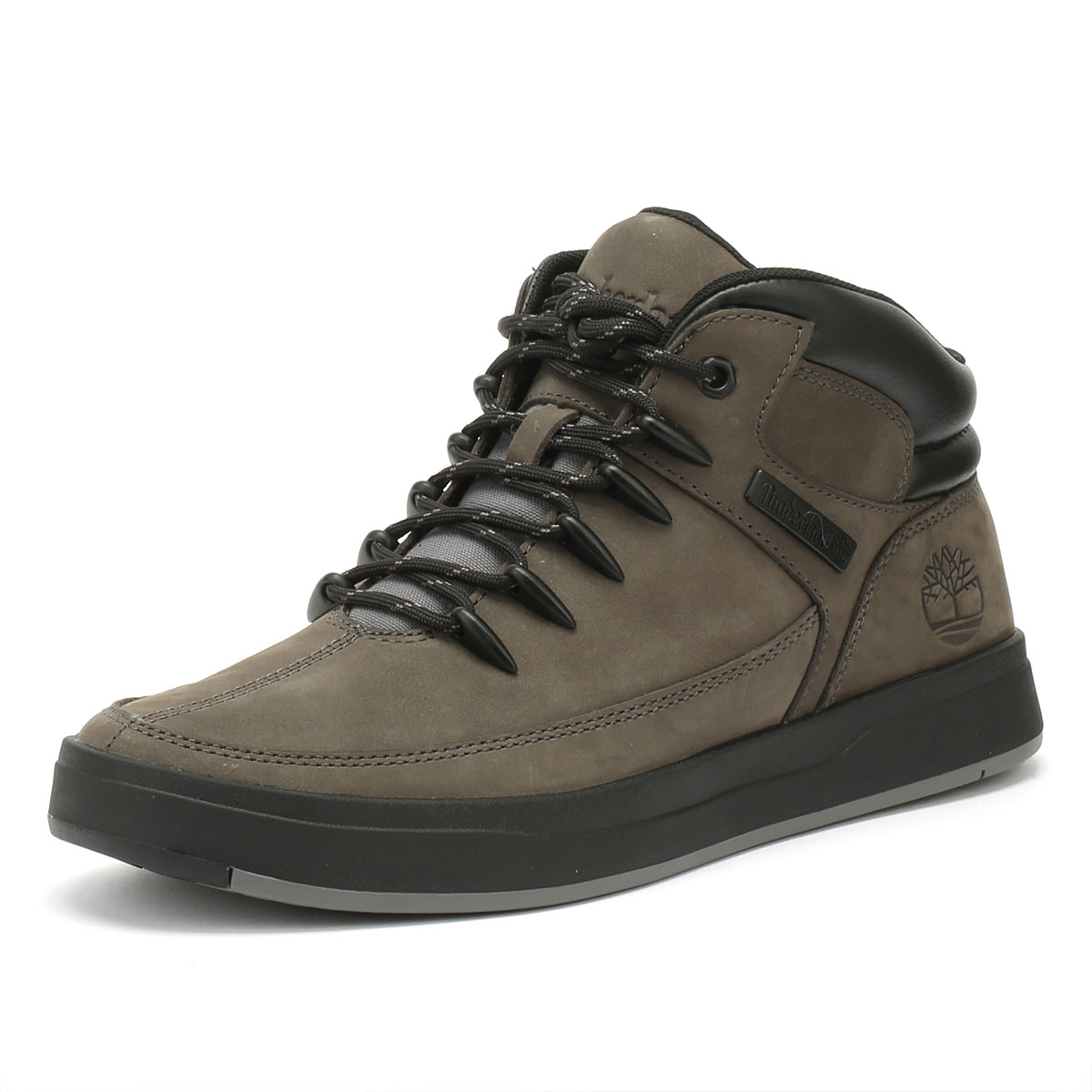 a5d751b7ff708 Timberland Davis Square Mens Trainers Eiffel Grey Mid Hiker Lace Up Casual  Shoes
