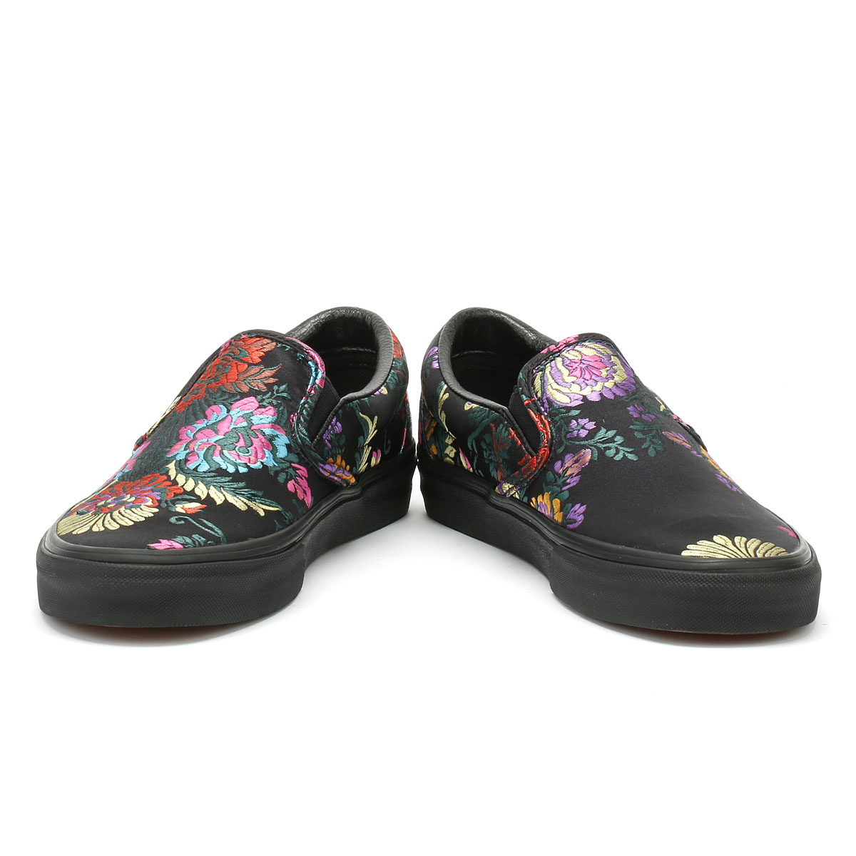 88e4f4cc1f9 Vans Classic Slip on Festival Satin Womens Black Trainers Casual Skate Shoes