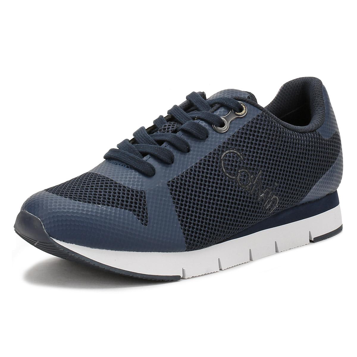 95a3d7e3045 Details about Calvin Klein Jeans Mens Trainers Blue Jaques Mesh Sport  Casual Shoes