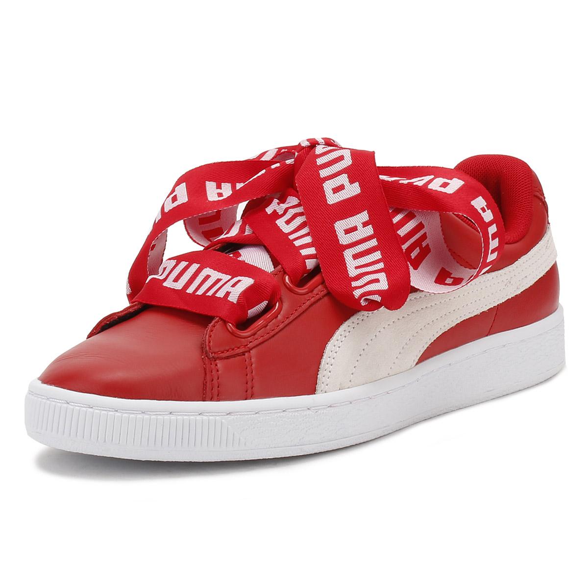 puma basket heart red