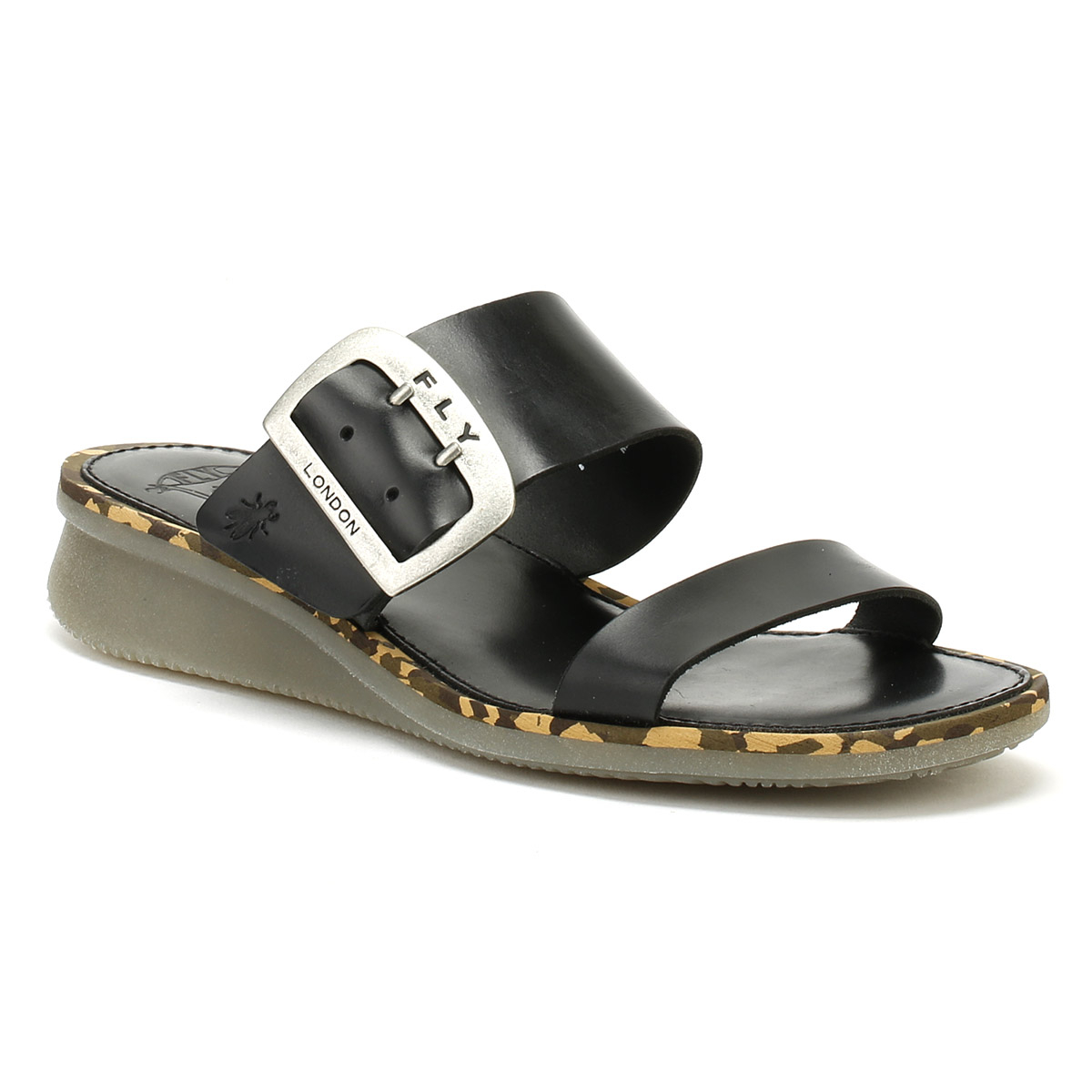 Fly-London-Womens-Sandals-Black-Cape205fly-Bridle-Wedge-Summer-Leather-Shoes