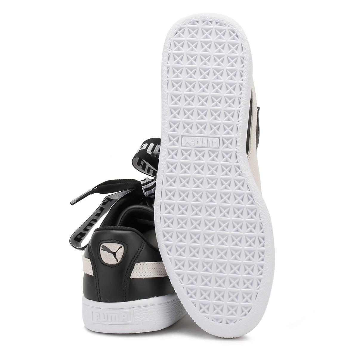 Descuento por tiempo limitado PUMA Womens Basket Heart DE Trainers, Satin Ribbon Chunky Lace, Leather Shoes