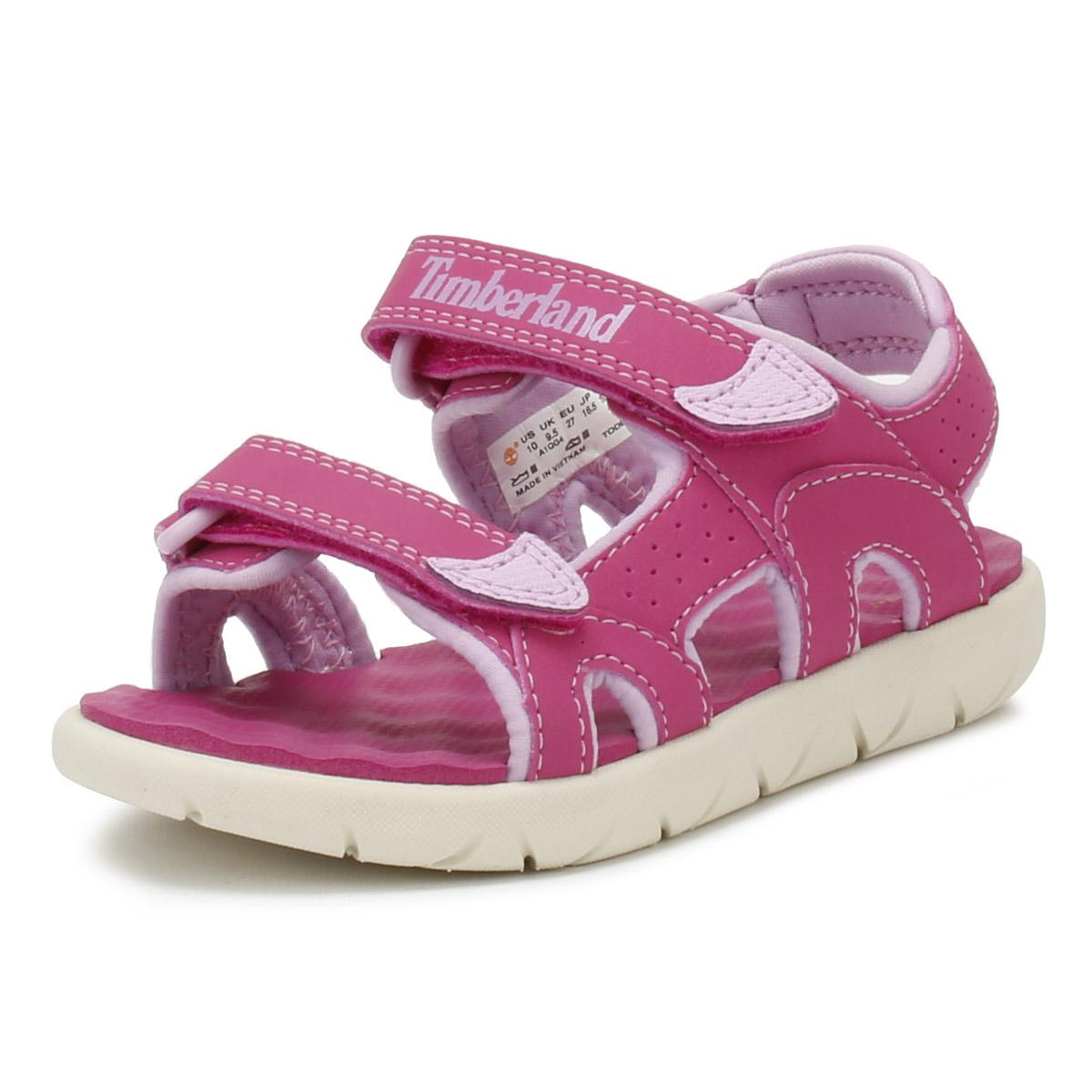 Super baratas estilo exquisito liquidación de venta caliente Timberland Toddlers Sandals Pink Perkins Row 2-Strap Kids Summer ...