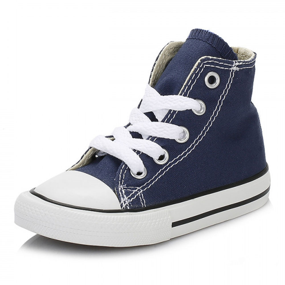 4791ab6cb18a7a Details about Converse Toddler Navy Blue CT AS Trainers Kids Hi Tops Canvas  Lace Up Sneakers