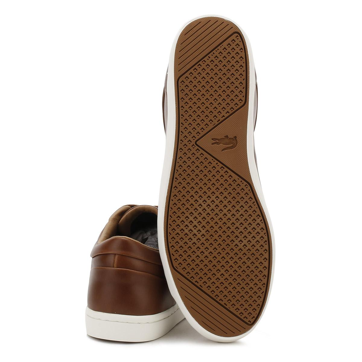 9d06042fad9 Lacoste-para-Hombre-Marron-straightset-317-Zapatillas-Zapatos-