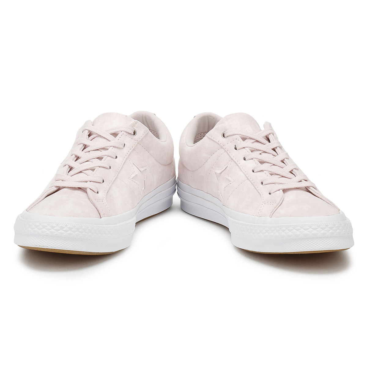 987573bc6ff8 Converse One Star Womens Ox Trainers Barely Rose Canvas Lace Up Skate Shoes