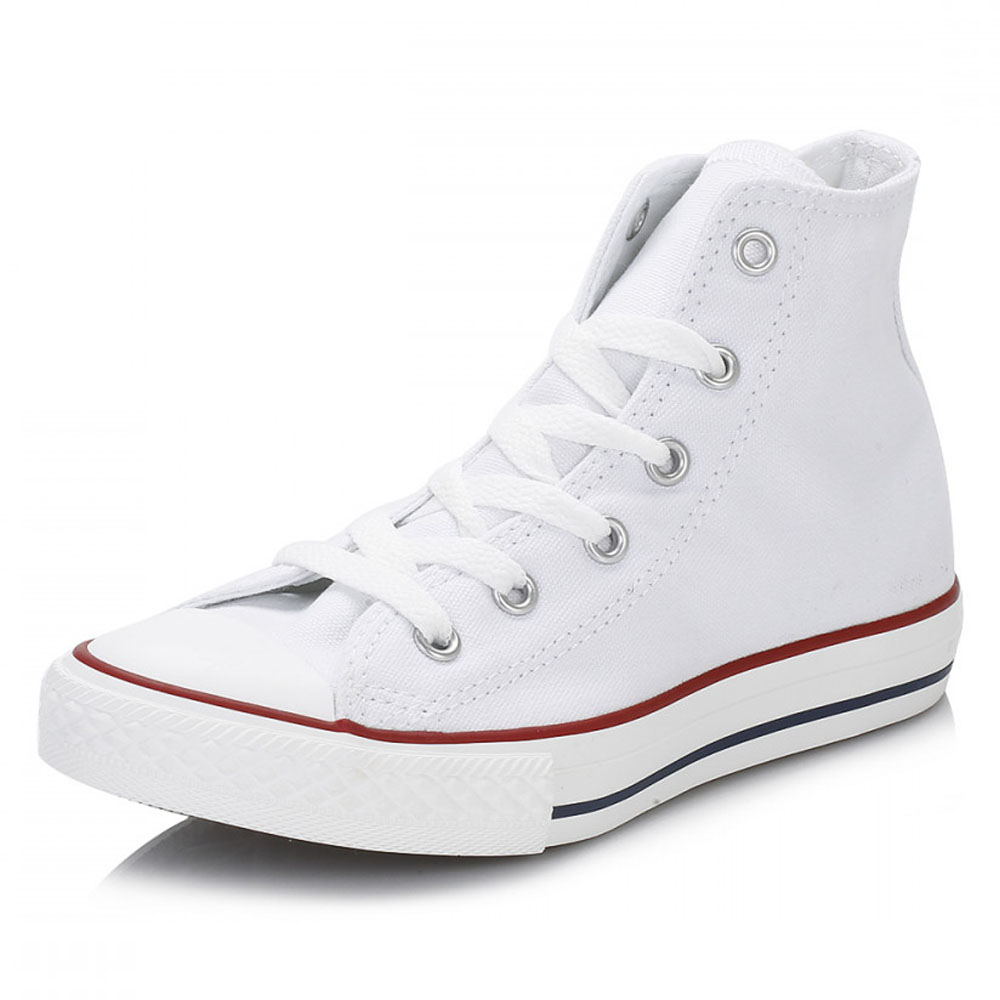5e83a00d8950ec Converse Junior White Chuck Taylor Trainers Kids Hi Tops Canvas Sneakers