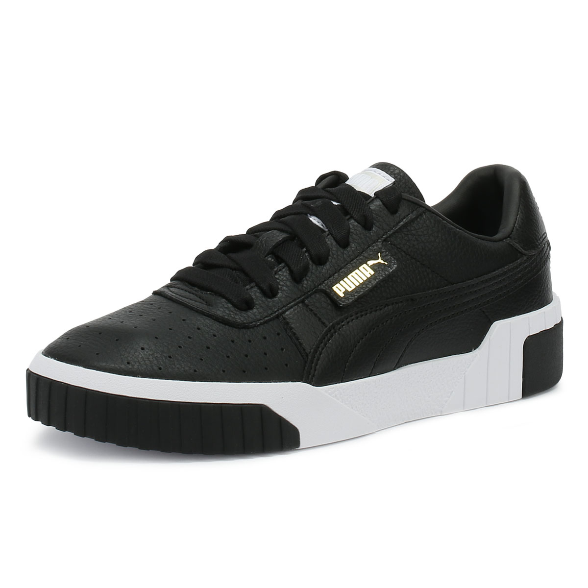 Details about PUMA Cali Womens Trainers Black & White Lace Up Sport Casual Ladies Shoes
