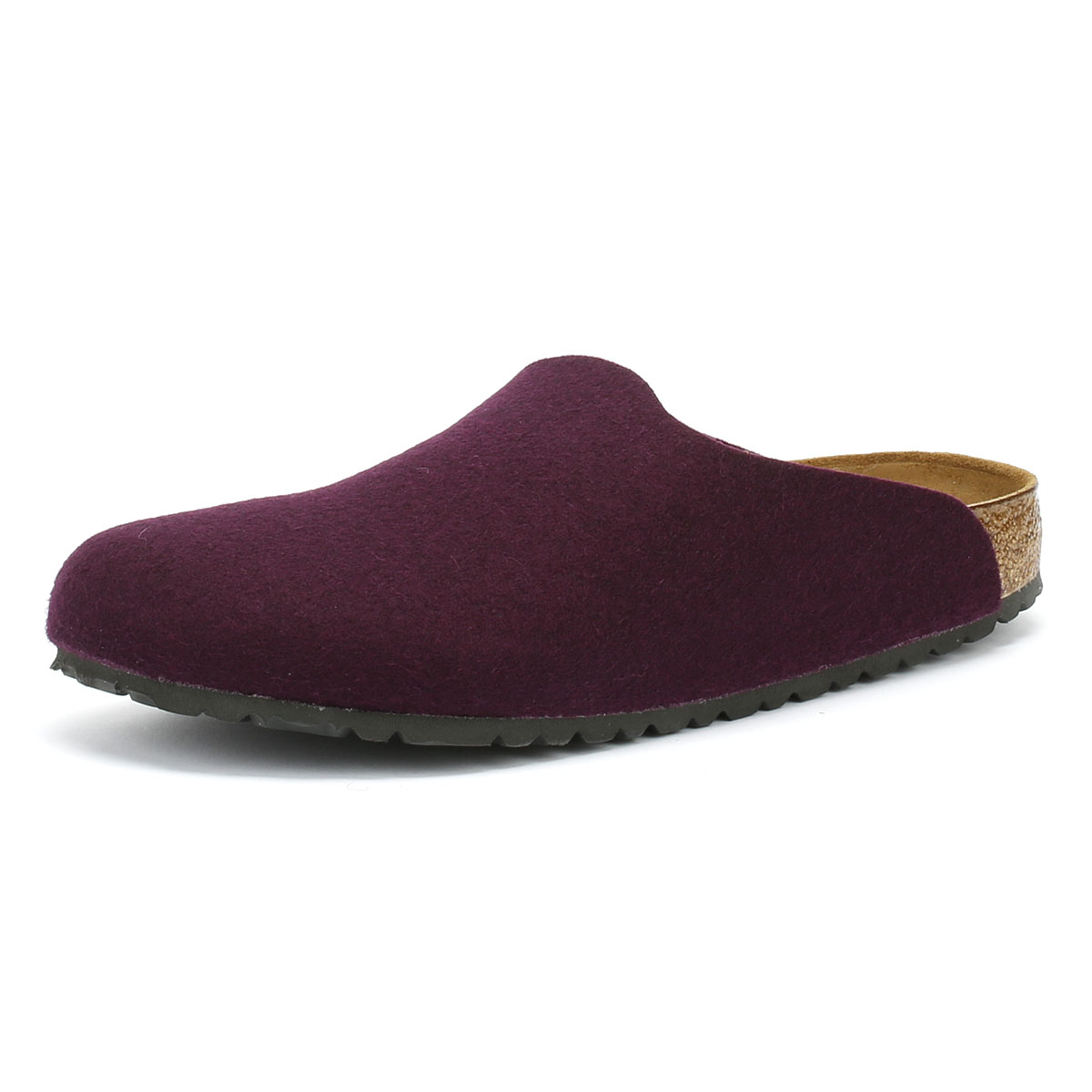 a5bbf0c28718 Details about Birkenstock Amsterdam Womens Aubergine Slippers Home Shoes