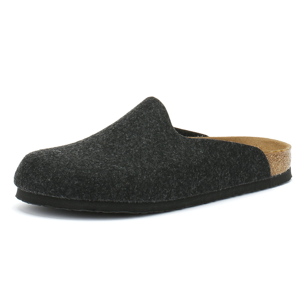 cfc95b9f55bc Details about Birkenstock Amsterdam Womens Grey Anthracite Slippers Home  Shoes