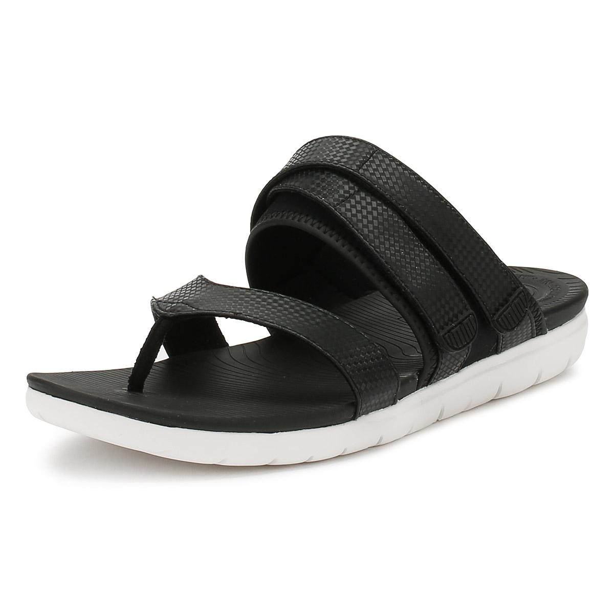 e8738a8db1805 FitFlop Neoflex Toe Thong - Black Mix (man-made) Womens Sandals 7 UK ...