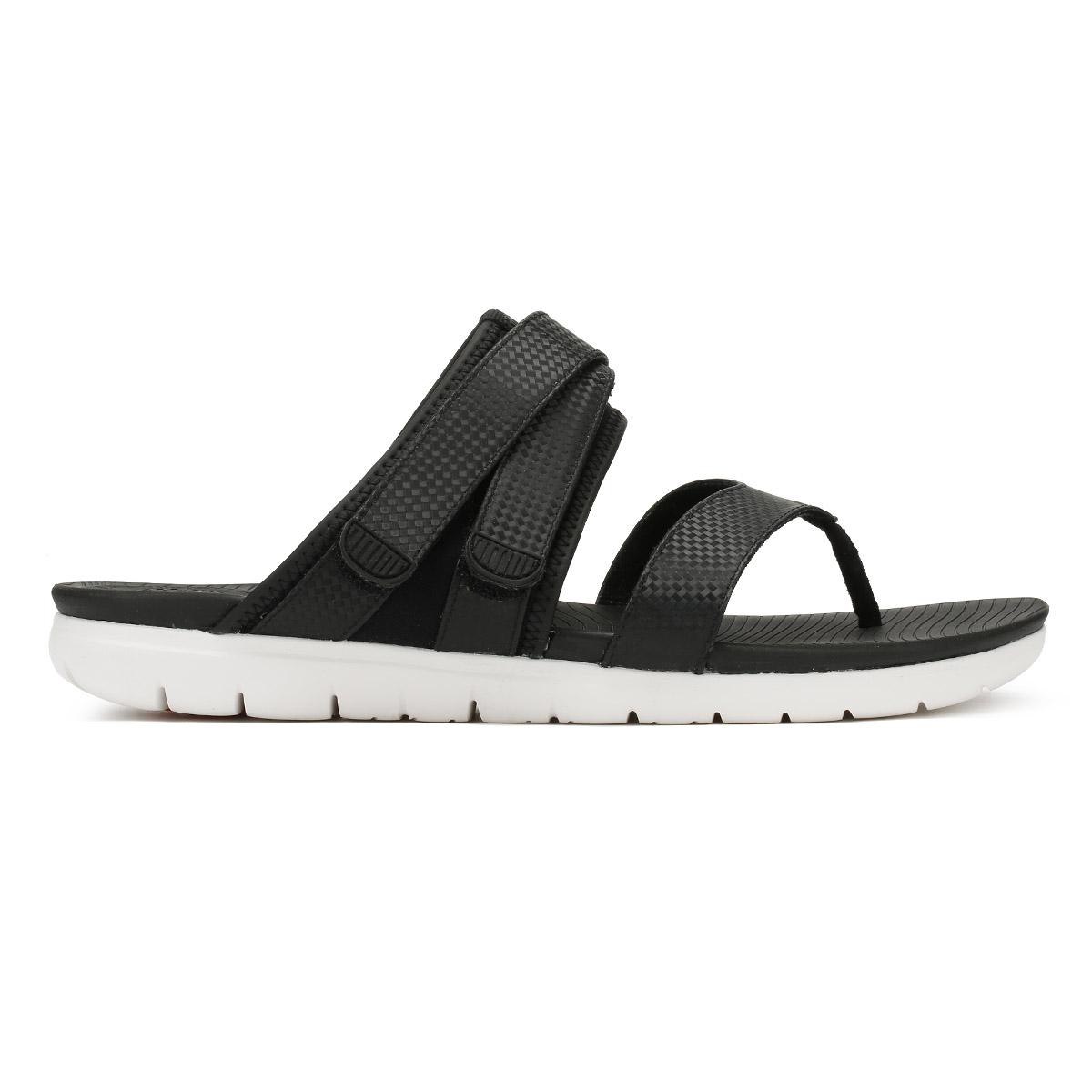c94e3ca074b28 FitFlop Neoflex Toe Thong - Black Mix (man-made) Womens Sandals 4 UK ...