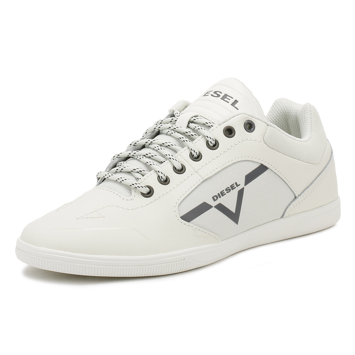 bf521443245964 Diesel Mens Ice White S-Arrow Trainers