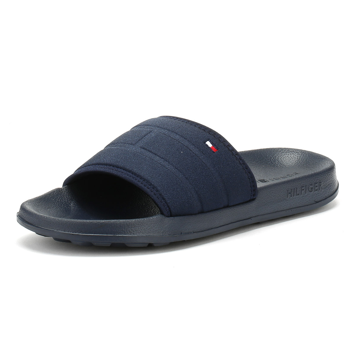 17fe7382e Details about Tommy Hilfiger Mens Slides Midnight Navy Flag Pool Sandals  Summer Beach Shoes