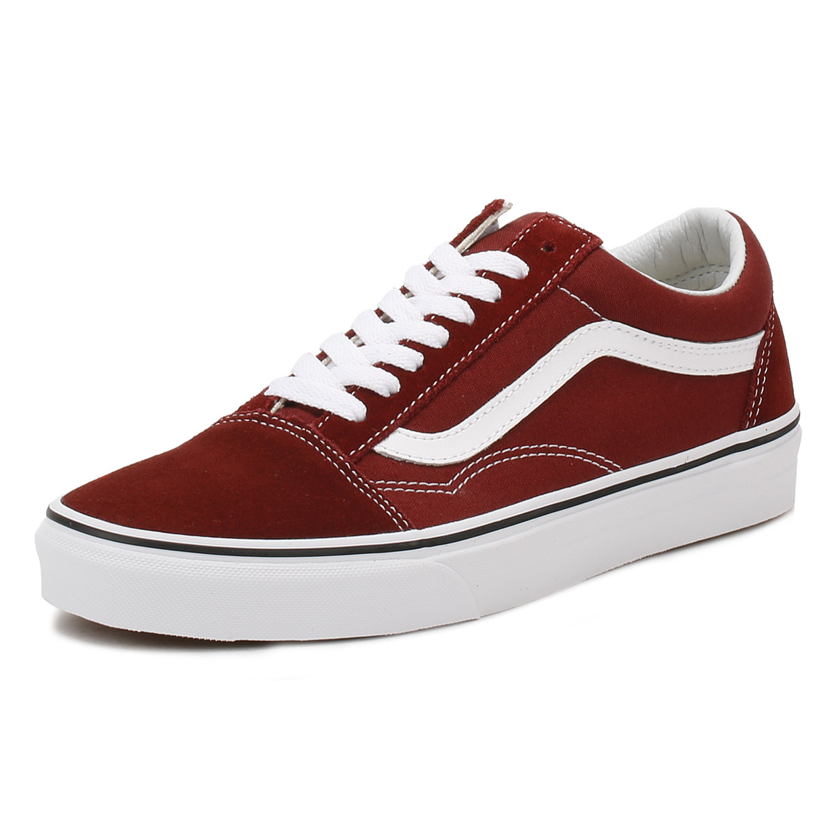 297141c84ad4da Details about Vans Mens Madder Brown Old Skool Trainers