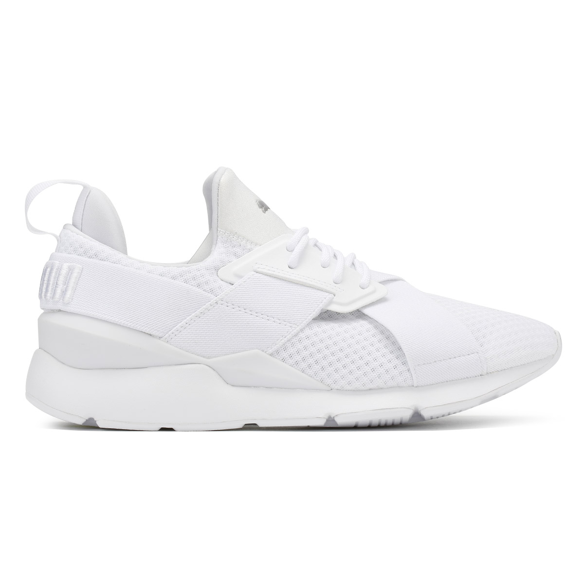 PUMA Damenschuhe WEISS Muse X-Strap EP Trainers Lace Up Sport Casual Running Schuhes