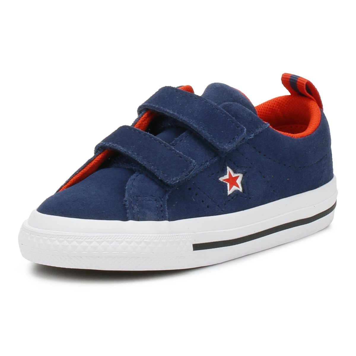 67163188d0a0 Details about Converse One Star Toddlers Ox Trainers Navy   White Canvas 2V  Kids Casual Shoes