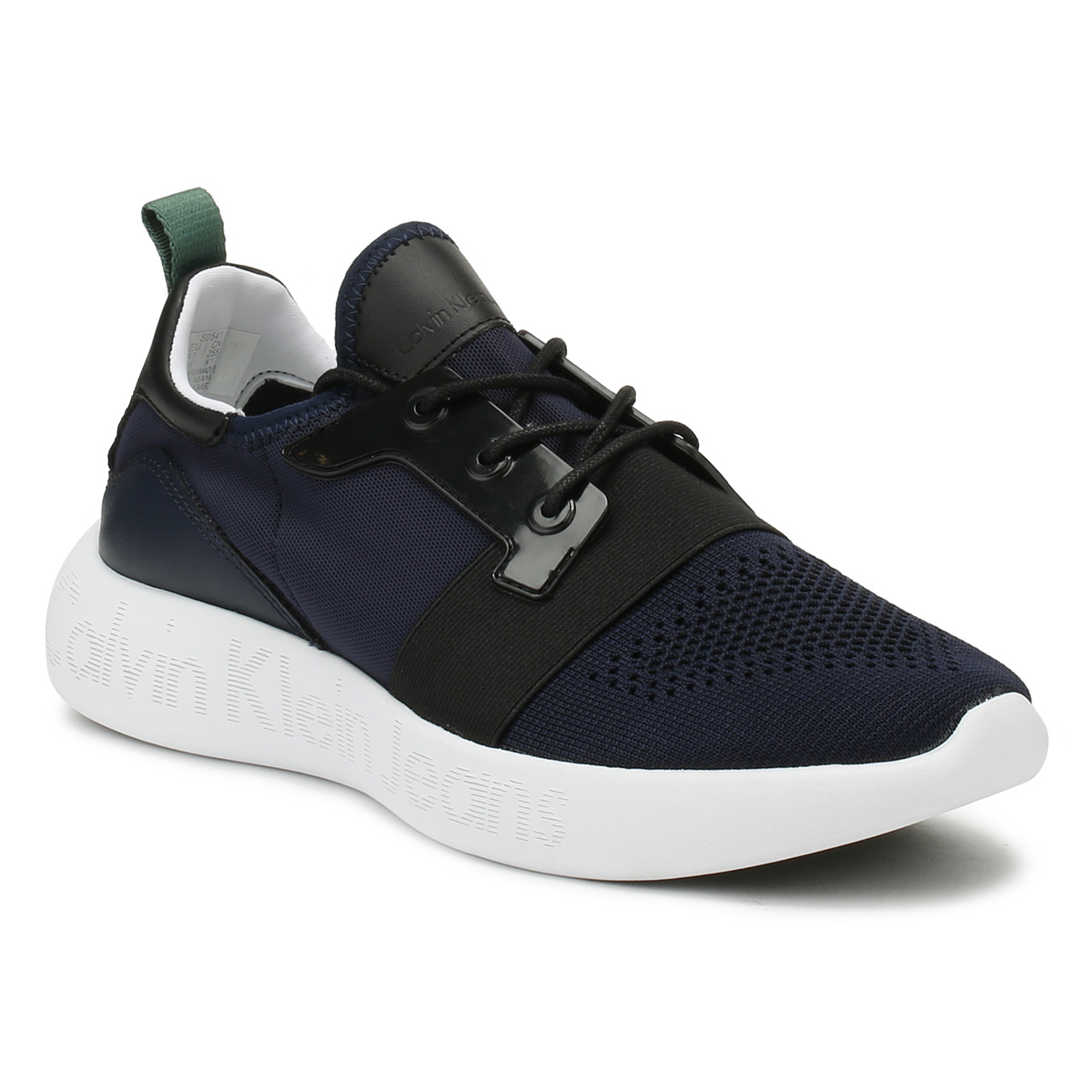 Calvin Klein Jeans Mens Trainers Indigo Mel Sport Casual Lace Up Knitted Shoes