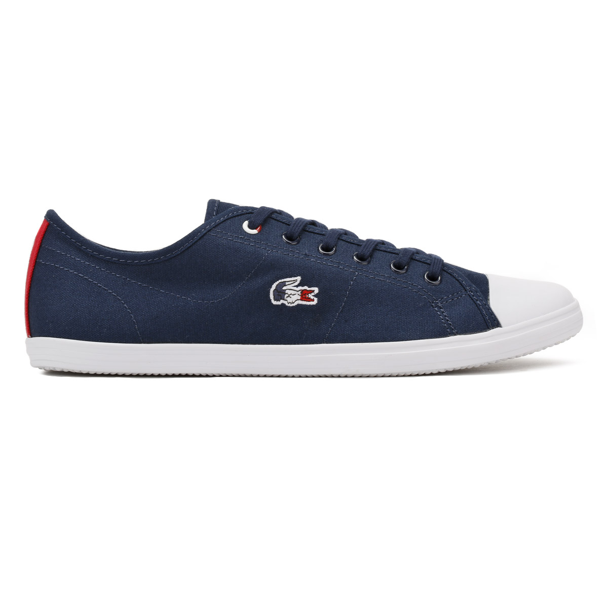 079fd2635 Lacoste Womens Trainers Navy or White Ziane 317 1 Ladies Sport ...